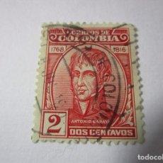 Sellos: CORREOS DE COLOMBIA ANTONIO BARAYA 2 CTVS SELLO L11 . Lote 67731033