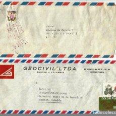 Sellos: COLOMBIA CORREO AÉREO PAREJA DE SOBRES DEL CORREO AÉREO DE COLOMBIA. Lote 68041409