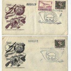 Sellos: COLOMBIA SP.D 1949-75 PAREJA DE SOBRES ANIVERSARIO DE LA UNIÓN POSTAL UNIVERSAL. Lote 68041957