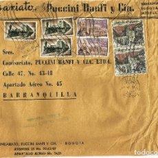 Sellos: COLOMBIA CORREO AÉREO. 1963 HISTÓRIA POSTAL. . Lote 68042161