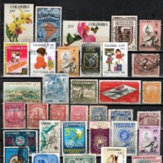 Francobolli: COLOMBIA . LOTE 40 SELLOS DIFERENTES.. *.MH (17-251). Lote 76002355