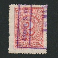Sellos: COLOMBIA.1908.-2 CENT.YVERT 187.USADO.. Lote 77921937
