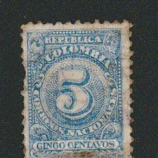 Sellos: COLOMBIA.1908.-5 CENT.YVERT 188.USADO.. Lote 77922233