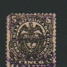 Sellos: COLOMBIA.1892-1900.-5 CENT.YVERT 102.USADO.. Lote 77922669