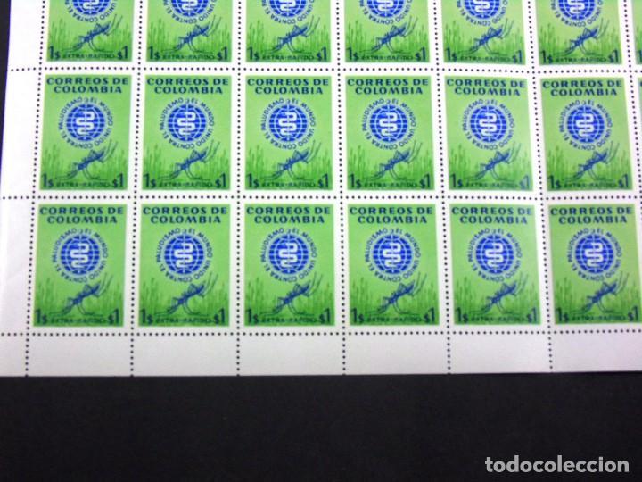 Sellos: COLOMBIA 1962 MINIPLIEGO DE 50 SELLOS CORREO AEREO ERRADICACION DEL PALUDISMO - Foto 2 - 83367004