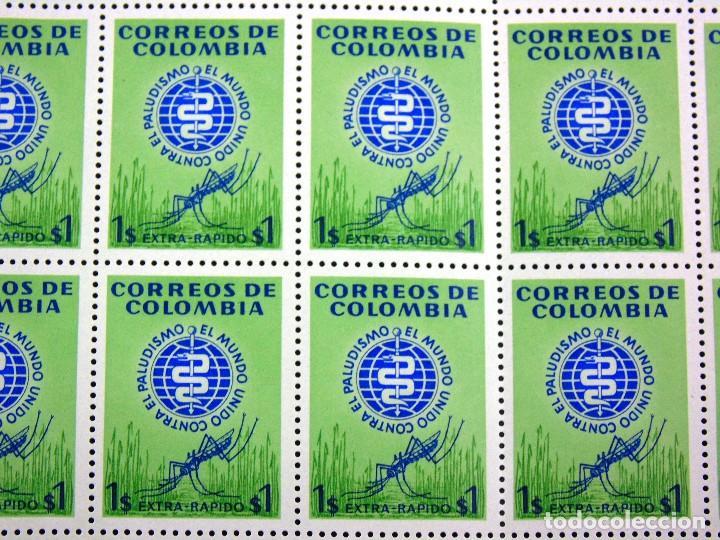 Sellos: COLOMBIA 1962 MINIPLIEGO DE 50 SELLOS CORREO AEREO ERRADICACION DEL PALUDISMO - Foto 3 - 83367004