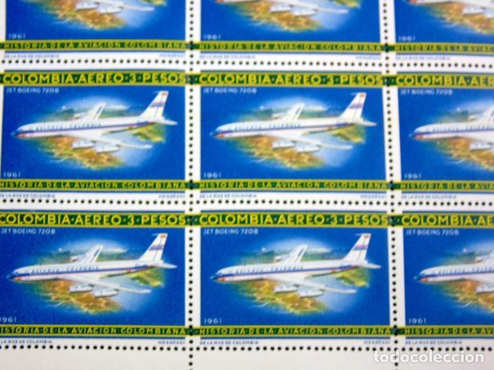 Sellos: COLOMBIA 1965-66 PLIEGO DE 100 SELLOS CORREO AEREO HISTORIA DE LA AVIACION NACIONAL NUEVOS - Foto 4 - 83367504