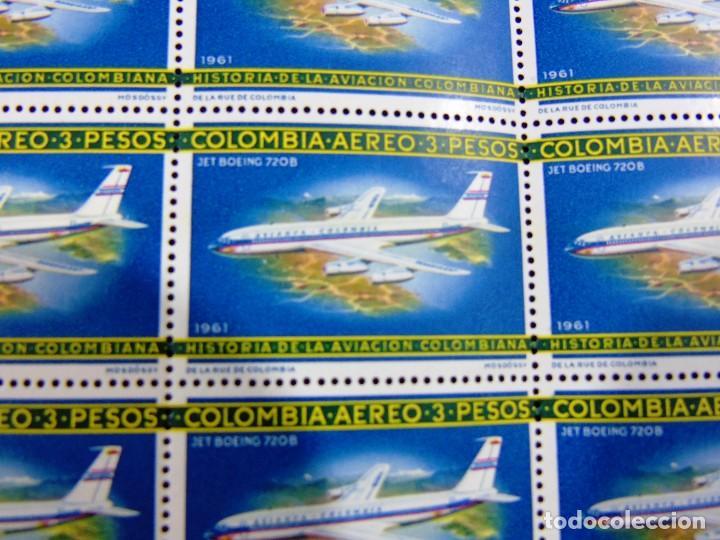 Sellos: COLOMBIA 1965-66 PLIEGO DE 100 SELLOS CORREO AEREO HISTORIA DE LA AVIACION NACIONAL NUEVOS - Foto 5 - 83367504