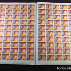 Sellos: COLOMBIA 1967 PLIEGO DE 100 SELLOS DECLARACION DE BOGOTÁ NUEVOS. Lote 83368036