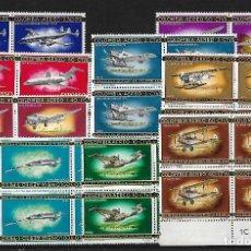 Sellos: COLOMBIA 1965-66 CORREO AEREO BLOQUES DE 4 SERIE COMPLETA. Lote 84182168