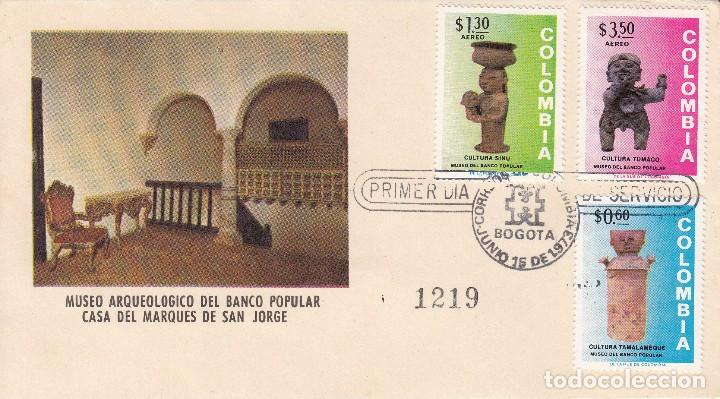 Tarjeta 1973 Bogota Museo Arqueologico Del Ba Comprar Sellos