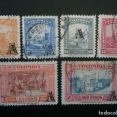 Sellos: COLOMBIA , CORREO AÉREO , YVERT Nº 207 - 212 , 6 VALORES, 1951-52. Lote 86819656