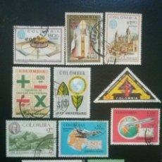 Sellos: COLOMBIA , CORREO AÉREO , YVERT Nº 488 - 498 , 1968 1969. Lote 86832412