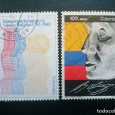 Sellos: COLOMBIA , CORREO AÉREO , YVERT Nº 723 - 724 SERIE COMPLETA , 1983. Lote 86833892