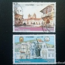 Sellos: COLOMBIA , CORREO AÉREO , YVERT Nº 728 - 729 SERIE COMPLETA , 1983. Lote 86833956