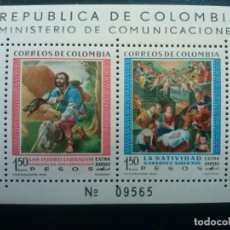 Sellos: COLOMBIA , YVERT HB HOJITA Nº 20 ** SIN CHARNELA , ARTE PINTURA , 1960. Lote 86834092