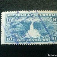 Sellos: COLOMBIA, ACUSE DE RECEPCIÓN, YVERT Nº 61 , 1917 , NATURALEZA CATARATAS. Lote 86835348