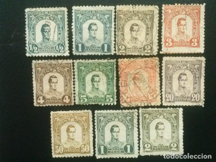ANTIOQUÍA , COLOMBIA , YVERT Nº 100 - 110 SERIE COMPLETA 1899 (Sellos - Extranjero - América - Colombia)