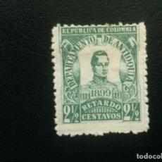 Sellos: ANTIOQUÍA , COLOMBIA , CARTAS CON RETRASO, YVERT Nº 1 * CHARNELA, 1899. Lote 86836636