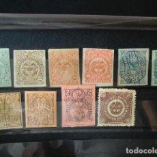 Sellos: COLOMBIA,1881-1906,LOTE DE SELLOS DE TELEGRAFOS,NUEVOS CON FIJASELLOS,DOS USADOS,(LOTE AB). Lote 89417464