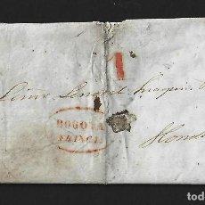 Sellos: COLOMBIA 1841 SOBRE PREFILATELICO CON CARTA INCORPORADA BOGOTA HONDA. Lote 92103995