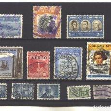 Francobolli: COLOMBIA 1950-77 - LOTE DE 12 SELLOS DIFERENTES - USADOS. Lote 92431150
