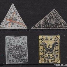 Sellos: COLOMBIA YVERT Nº TAXA 1-2-3-4 USADOS. Lote 98541095