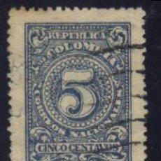 Sellos: S-0839- REPUBLICA DE COLOMBIA. CORREOS NACIONALES. CINCO CENTAVOS.. Lote 98699943