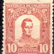Sellos: COLOMBIA. ANTIOQUÍA. YVERT106 USADO. . Lote 105888631