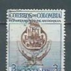 Sellos: COLOMBIA,ANTIOQUÍA,1956,YVERT 510,USADO. Lote 122738542