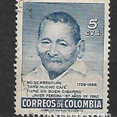 Sellos: CAFÉ DE COLOMBIA. SELLO AÑO 1957. Lote 127185899