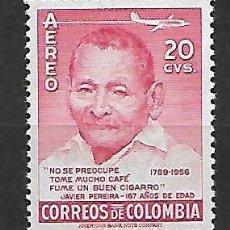 Sellos: CAFÉ DE COLOMBIA. SELLO AÑO 1957. Lote 127186067