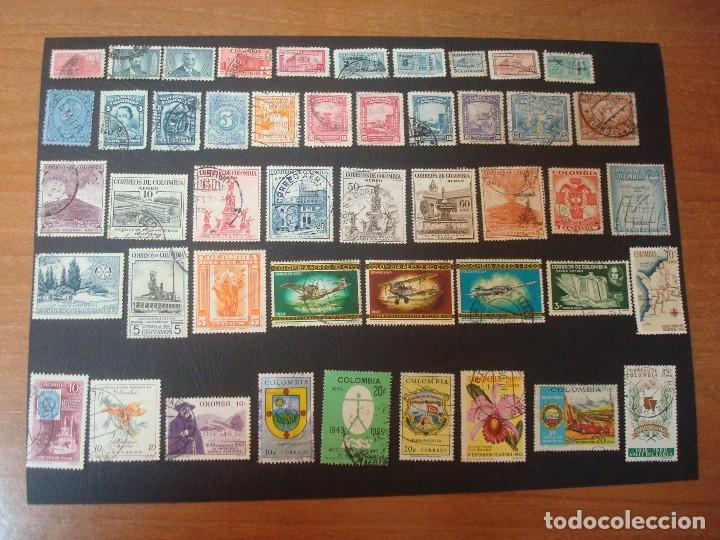 COLOMBIA-LOTE DE 47 SELLOS DISTINTOS (Sellos - Extranjero - América - Colombia)
