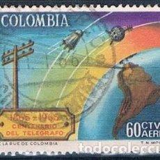 Sellos: COLOMBIA 1965 SELLO Y PA 450 USADO. Lote 145137414