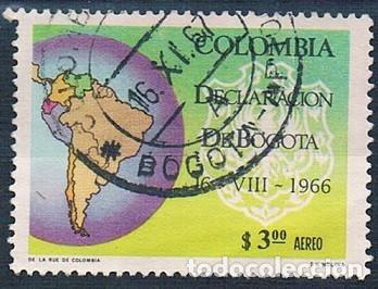 COLOMBIA 1967 SELLO Y PA 467 USADO (Sellos - Extranjero - América - Colombia)