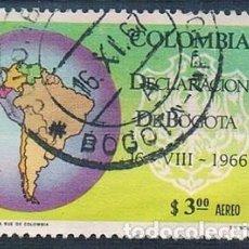 Sellos: COLOMBIA 1967 SELLO Y PA 467 USADO. Lote 145137422