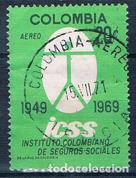 COLOMBIA 1969 SELLO Y PA 498 USADO (Sellos - Extranjero - América - Colombia)