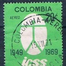 Sellos: COLOMBIA 1969 SELLO Y PA 498 USADO. Lote 145137454