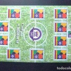 Sellos: COLOMBIA 2004 FIFA 100 YEAR DE HISTORIA YVERT 1291 EN BLOC ** MNH. Lote 147067582