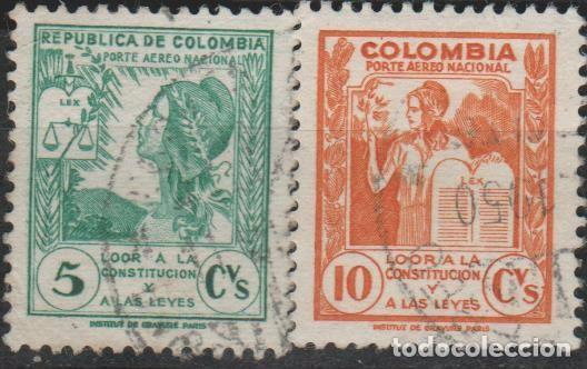 LOTE 4 SELLOS COLOMBIA (Sellos - Extranjero - América - Colombia)