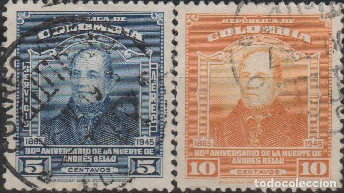 LOTE 4 SELLOS COLOMBIA (Sellos - Extranjero - América - Colombia)