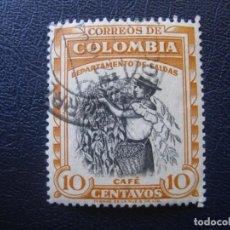 Sellos: COLOMBIA, 1956 DEPARTAMENTO DE CALDAS, YVERT 517. Lote 148920166