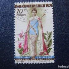 Sellos: COLOMBIA, 1959 LUZ MARINA ZULUAGA, YVERT 563. Lote 148921622