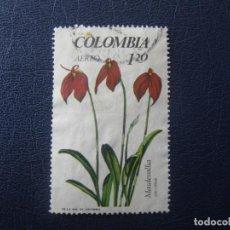 Sellos: COLOMBIA, 1967 FLORES, MASDEVALLIA, YVERT 471 AEREO. Lote 149467218