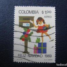 Sellos: COLOMBIA, 1969 NAVIDAD, YVERT 503 AEREO. Lote 149467966