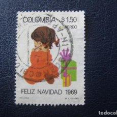 Sellos: COLOMBIA, 1969 NAVIDAD, YVERT 504 AEREO. Lote 149468078