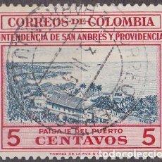 Sellos: 1956 - COLOMBIA - TURISMO - VISTA DEL PUERTO DE SAN ANDRES - YVERT 513. Lote 150200130
