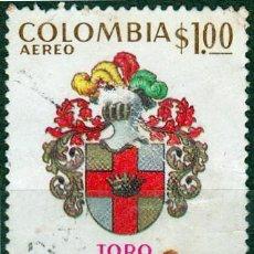 Francobolli: 1973 - COLOMBIA - IV CENTENARIO FUNDACION DE TORO - VALLE DEL CAUCA - YVERT PA 570. Lote 150201930