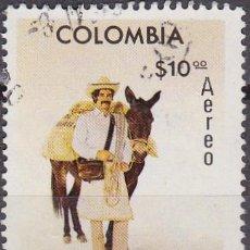 Sellos: 1977 - COLOMBIA - 50º ANIVERSARIO FEDERACION NACIONAL DE CAFETEROS - YVERT PA 606. Lote 150233466