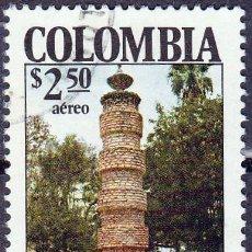 Sellos: 1978 - COLOMBIA - 150º ANIVERSARIO CONVENCION OCAÑA - COLUMNA A LOS ESCLAVOS - YVERT PA 623. Lote 150234502
